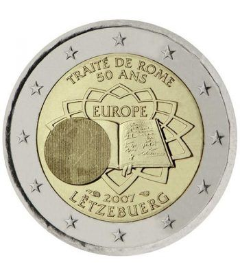 moneda Luxemburgo 2 euros 2007 Tratado de Roma  - 2