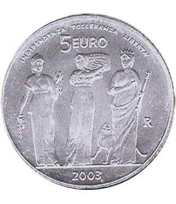 San Marino 5 Euros 2003 Juegos Olímpicos verano  - 1
