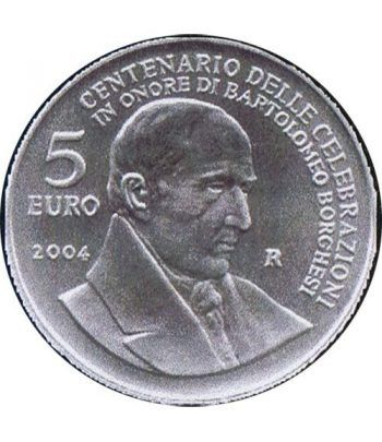 San Marino 5 Euros 2004 Bartolomeo Borghesi. Plata.  - 1