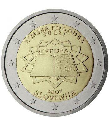 moneda Eslovenia 2 euros 2007 Tratado de Roma  - 2