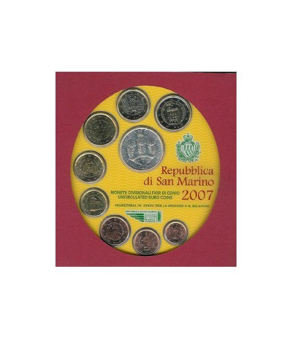 Cartera oficial euroset San Marino 2007 + 5€ (plata)  - 2