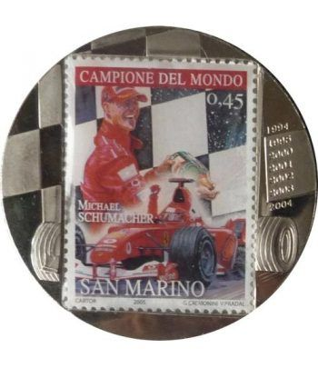 Republica Dem. Congo 2007 5 Fr. Michael Schumacher. Niquel.  - 1