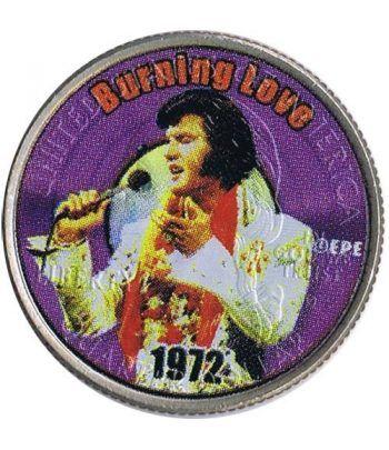 Moneda E.E.U.U. 1/4$ 2002 Elvis 1972 Burning love  - 4