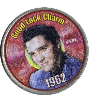 Moneda E.E.U.U. 1/4$ 2002 Elvis 1962 Good Luck Charm.  - 1