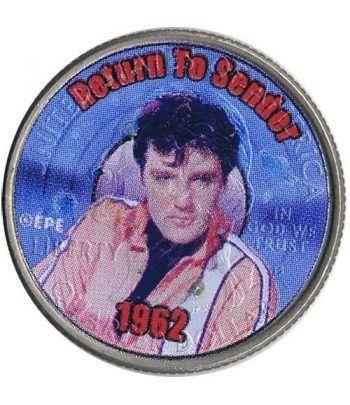 Moneda E.E.U.U. 1/4$ 2002 Elvis 1962 Return to Sender.  - 4