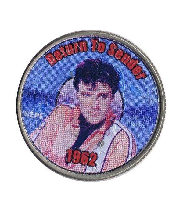 Moneda E.E.U.U. 1/4$ 2002 Elvis 1962 Return to Sender.  - 1