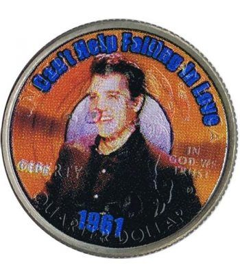 Moneda E.E.U.U. 1/4$ 2002 Elvis 1961 Can't Help Falling in Love.  - 1