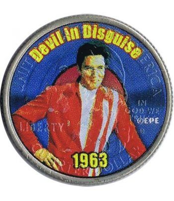 Moneda E.E.U.U. 1/4$ 2002 Elvis 1963 Devil in Disguise  - 1