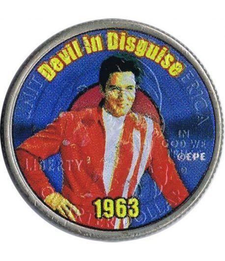 Moneda E.E.U.U. 1/4$ 2002 Elvis 1963 Devil in Disguise  - 1