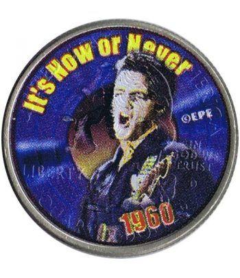 Moneda E.E.U.U. 1/4$ 2002 Elvis 1960 It's Now or Never.  - 1