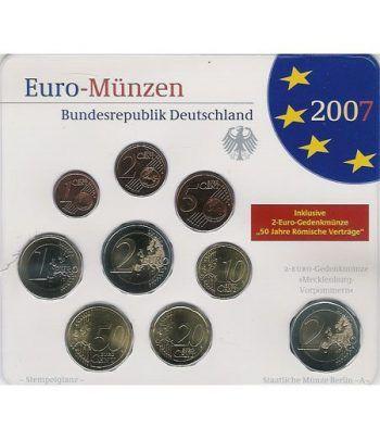 Cartera oficial euroset Alemania 2007 (5 cecas).  - 2