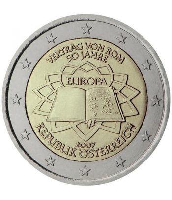 moneda Austria 2 euros 2007 Tratado Roma  - 2