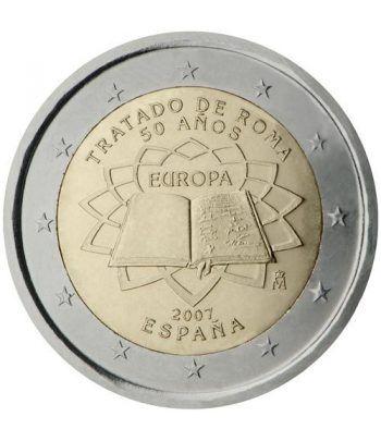 moneda España 2 euros 2007 Tratado de Roma  - 2