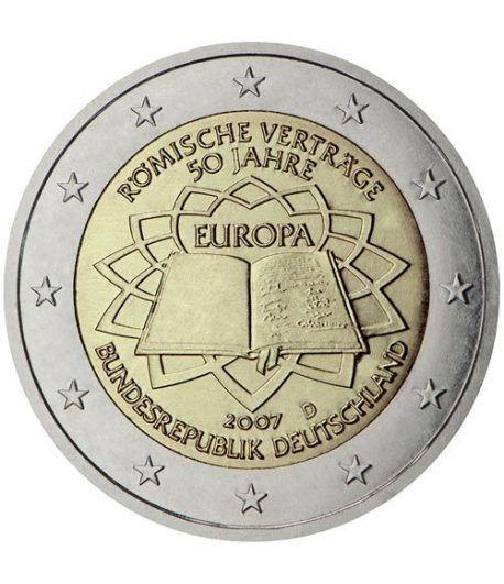moneda Alemania 2 euros 2007 Tratado de Roma (5 cecas)  - 2