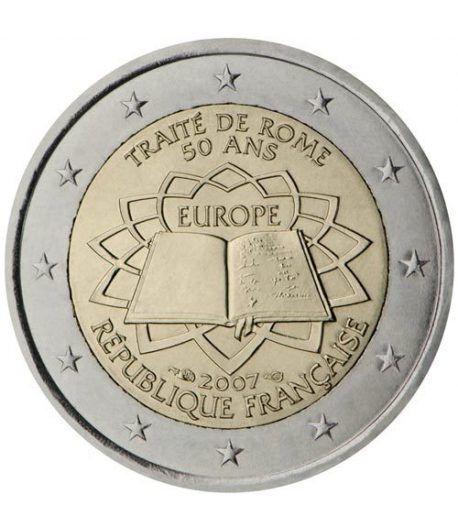 moneda Francia 2 euros 2007 Tratado de Roma  - 2