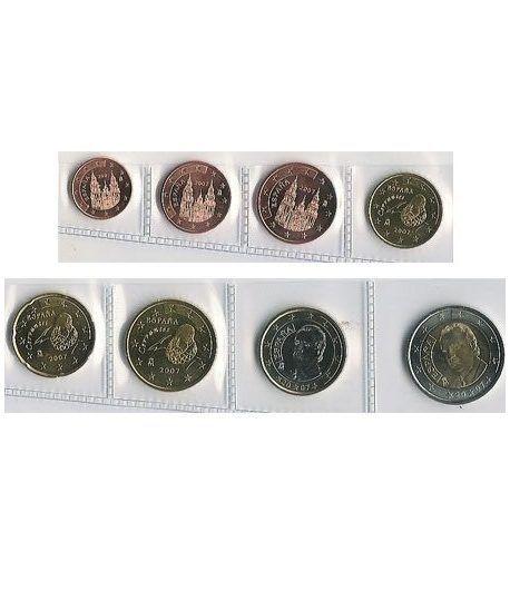 monedas euro serie España 2007  - 2