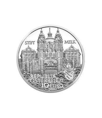 moneda Austria 10 Euros 2007. Monasterio de Melk. Plata.  - 1