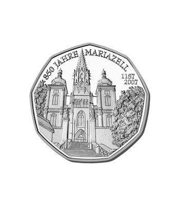 moneda Austria 5 Euros 2007 (nueve esquinas) Mariazell.  - 2