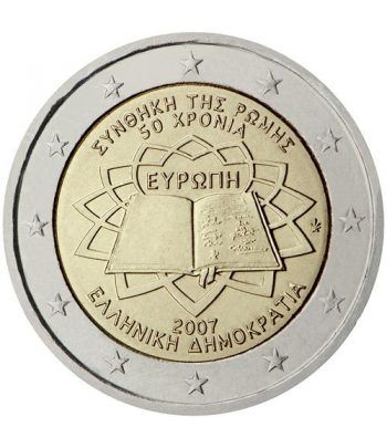 moneda Grecia 2 euros 2007 Tratado de Roma  - 2
