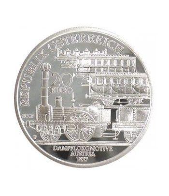 moneda Austria 20 Euros 2007 Trenes austriacos (estuche proof)  - 1