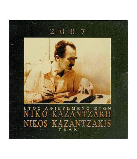 Cartera oficial euroset Grecia 2007+10 Euros Niko Kazantzakis  - 2