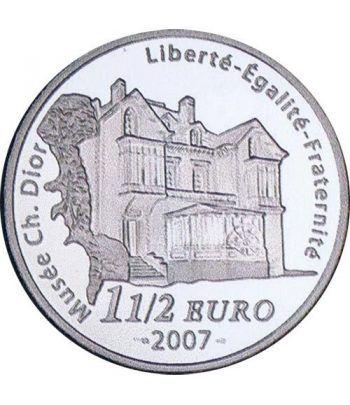 Moneda Francia 1 1/2 euro 2007 Christian Dior  - 2