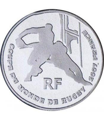 Moneda Francia 1/4 euro 2007 Copa Mundial de Rugby, Francia.  - 1