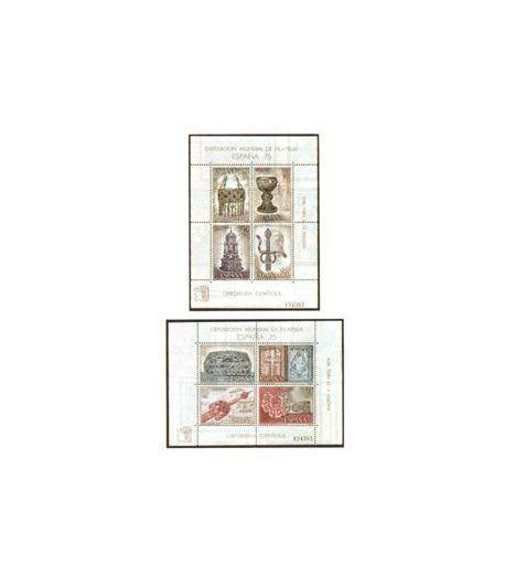 2252/53 Exposición Mundial de Filatelia (España-75).  - 2