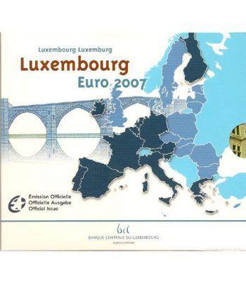 Cartera oficial euroset Luxemburgo 2007  - 2