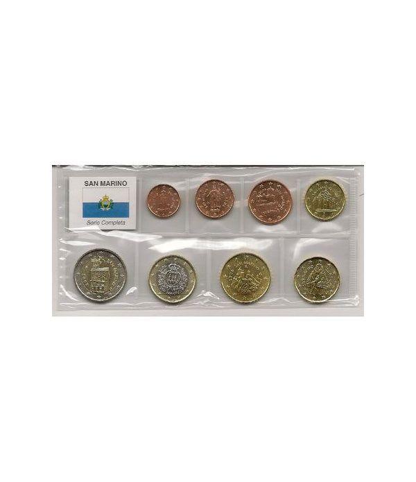 monedas euro serie San Marino (mixta)  - 2