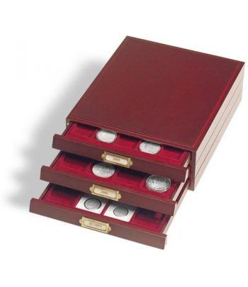 LEUCHTTURM Bandeja madera LIGNUM para 35 monedas de 35mm Bandeja Monedas - 2