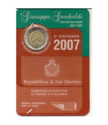 moneda conmemorativa 2 euros San Marino 2007. Est. Oficial  - 2