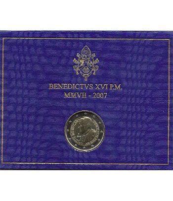 moneda conmemorativa 2 euros Vaticano 2007. Estuche Oficial.  - 2