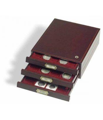 LEUCHTTURM Bandejas de madera HMB 48 para 48 placas de cava Bandeja Monedas - 2