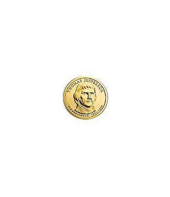 E.E.U.U. 1$ (2007) 3º Presidencial Thomas Jefferson  (2cecas)  - 2