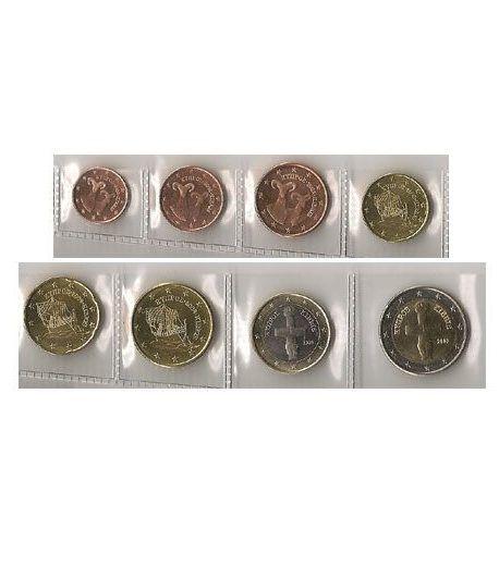 8 monedas euro serie Chipre año 2008  - 2