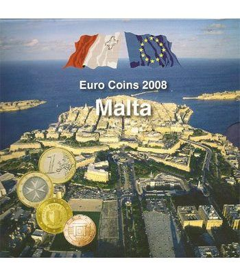 Cartera oficial euroset Malta 2008. (Incluye 2 sellos)  - 2