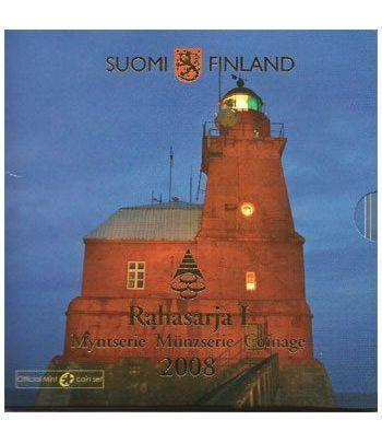 Cartera oficial euroset Finlandia 2008.  - 2