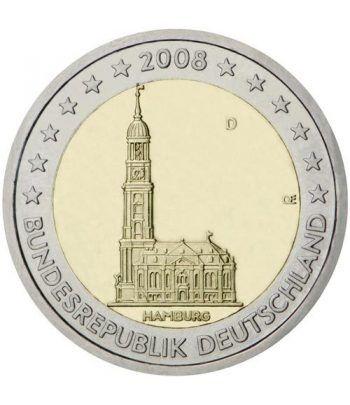 moneda conmemorativa 2 euros Alemania 2008. 5 monedas  - 2