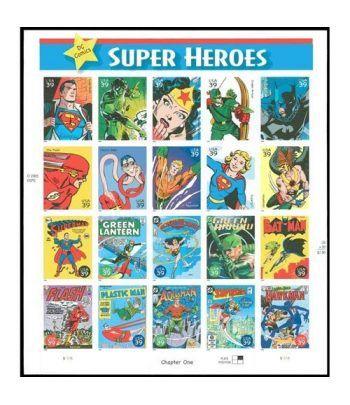 Comics. USA 2005 DC Comics Super Heroes. 20 sellos  - 2