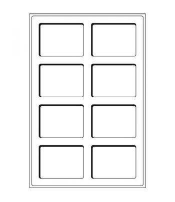 Recambio de 2 bandejas TAB con 8 divisiones para EVERSLAB Bandeja Monedas - 2