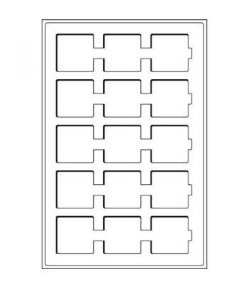 Recambio de 2 bandejas TAB 15 divisiones para Cartones y QUADRUM Bandeja Monedas - 2