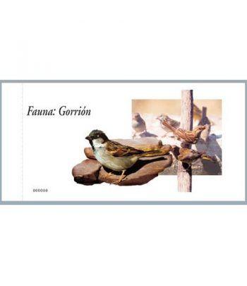 4213c Fauna y Flora GORRIÓN (carnet de 100 sellos)  - 2