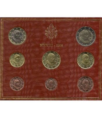 Cartera oficial euroset Vaticano 2008  - 2