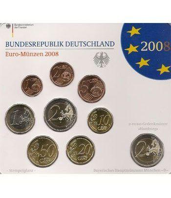 Cartera oficial euroset Alemania 2008 (5 cecas).  - 2