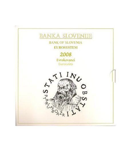 Cartera oficial euroset Eslovenia 2008 (incluye moneda 3 euros)  - 2