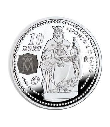 Moneda 2008 Alfonso X El Sabio. 10 euros. Plata.  - 1