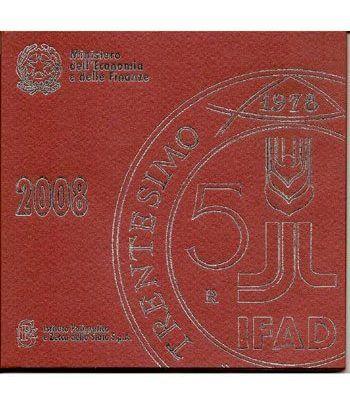 Cartera oficial euroset Italia 2008 (incluye 5 € plata)  - 2