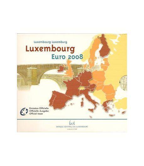 Cartera oficial euroset Luxemburgo 2008  - 2