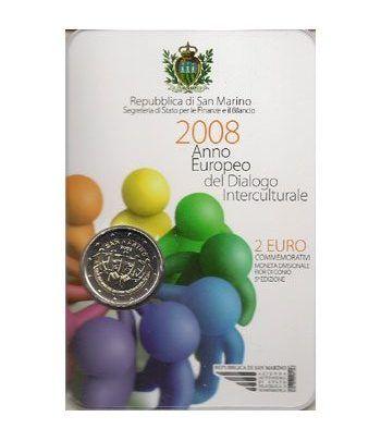 moneda conmemorativa 2 euros San Marino 2008. Est. Oficial  - 2